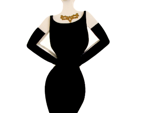 Boneca Audrey  Hepburn - 29,9x8,9cm