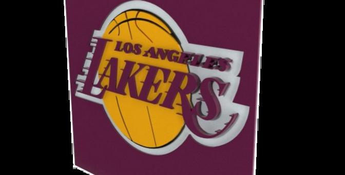 Quadro Basquete Lakers - 40x40cm