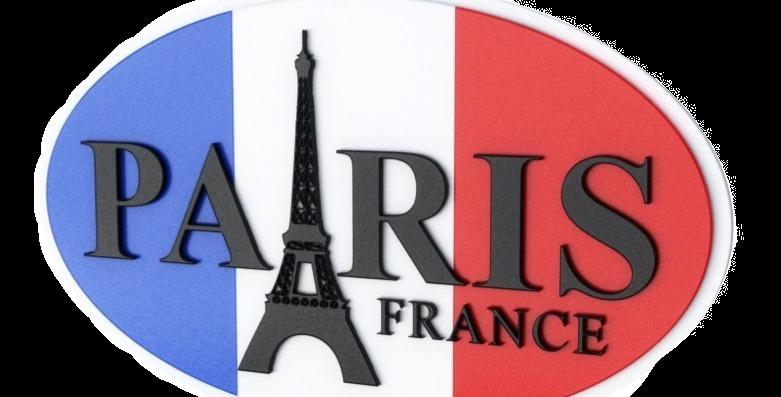 Quadro Paris France - 24,1x40cm