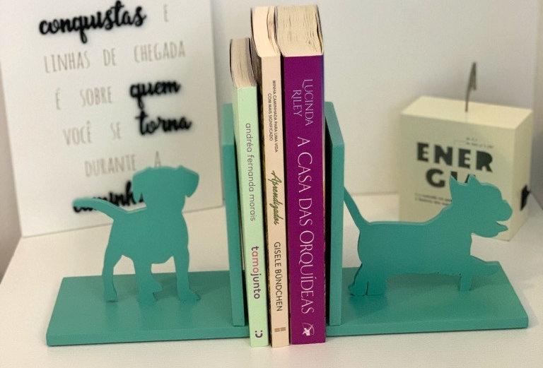 Aparador de livro  2 Cachorros - 16x25cm