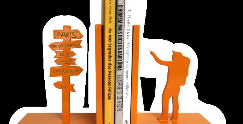 Aparador de Livro Mochileiro - 16x26cm