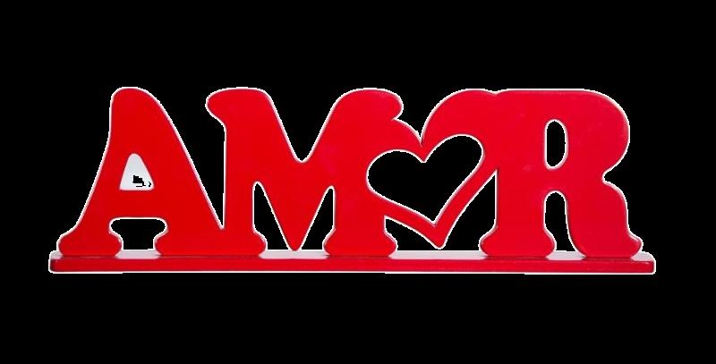 Palavra Decorativa Amor - 13,1x31cm