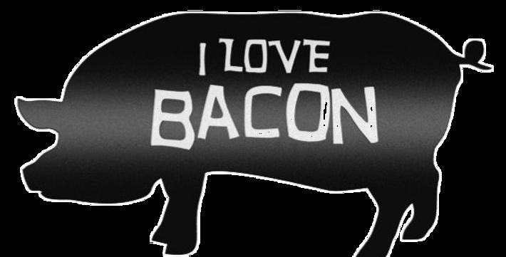 Quadro I Love Bacon - 25x46cm