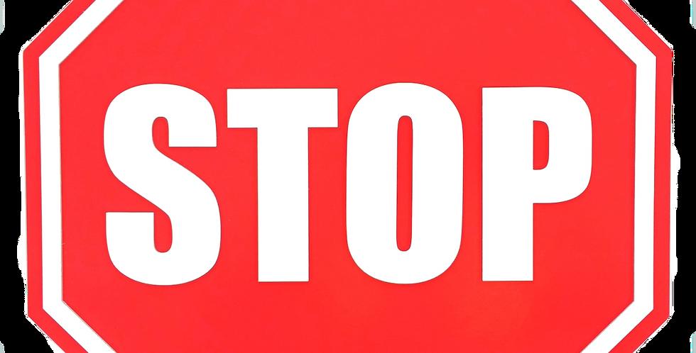 Quadro de Bar Laqueado - STOP PARE - 40x40cm