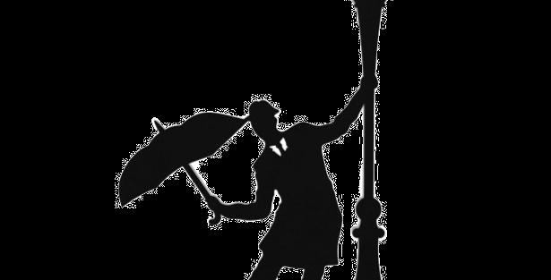 Objeto Decorativo Dançando na Chuva - 35x28cm