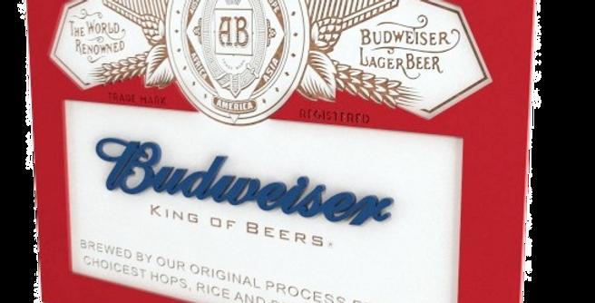 Quadro Bebida Budweiser - 32x40cm