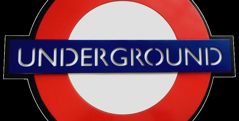 Quadro Underground London - 40x40cm
