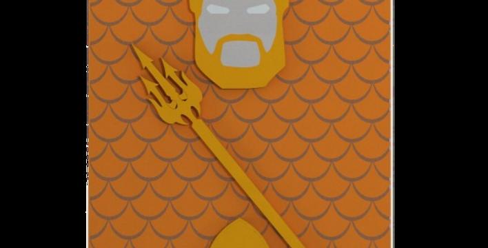 Quadro Decorativo Aquaman - 40x27cm