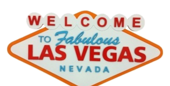 Quadro Welcome Las Vegas 30x40cm