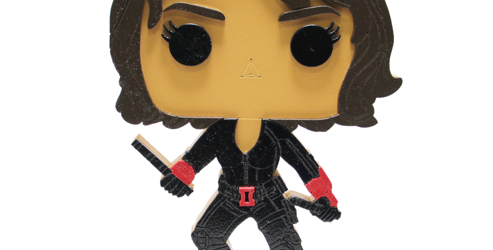 Boneco Laqueado- Geek- BLACK WIDOW