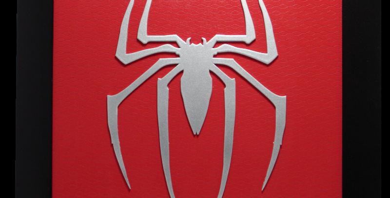 Quadro Homem Aranha quadrado 40x40cm