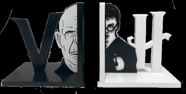 Aparador de Livro Harry x Valdemort - 15x30cm