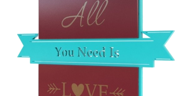 Quadro All You Need Is Love - 33,4x40cm