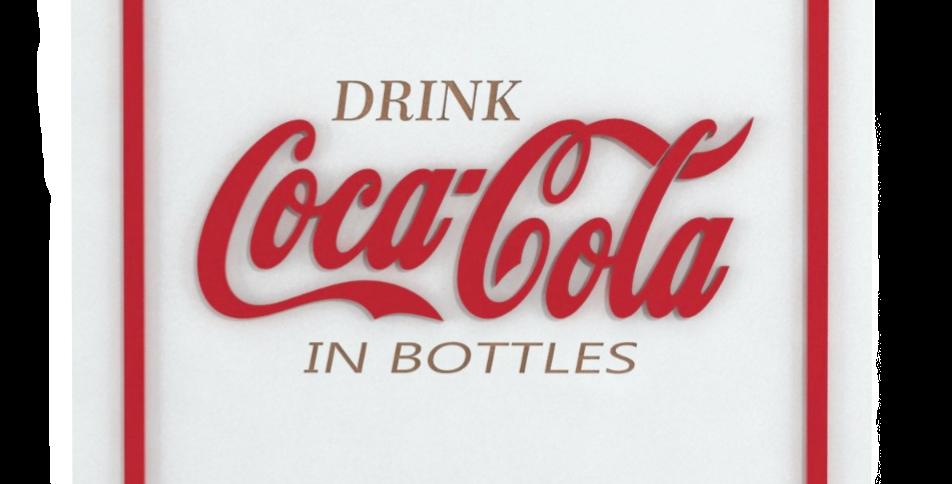 Quadro Coca-Cola Drink- 40x40cm