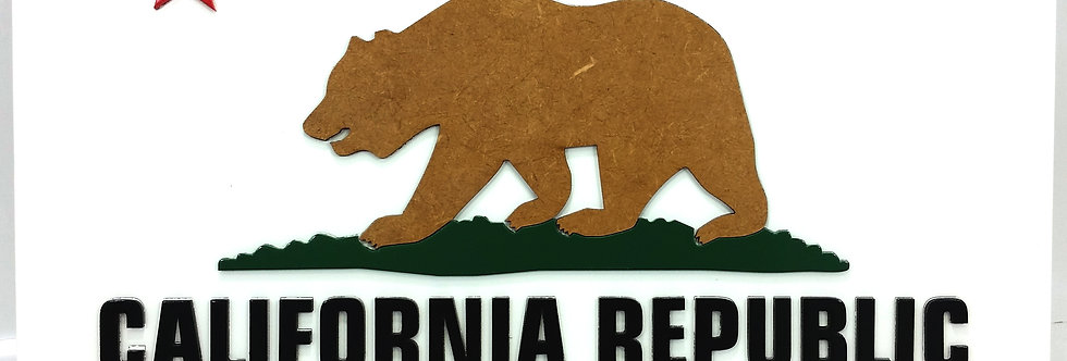 Quadro de Bar Laqueado - California Republic 30x40cm