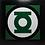 Thumbnail: Quadro Lanterna Verde quadrado 40x40cm