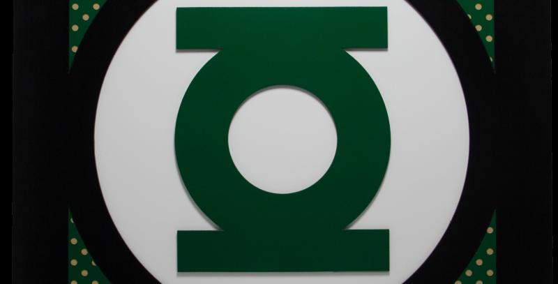 Quadro Lanterna Verde quadrado 40x40cm