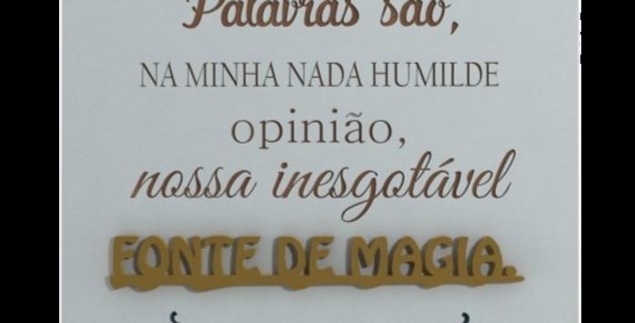 Quadro Fonte de Magia - Harry Potter - 20x20cm