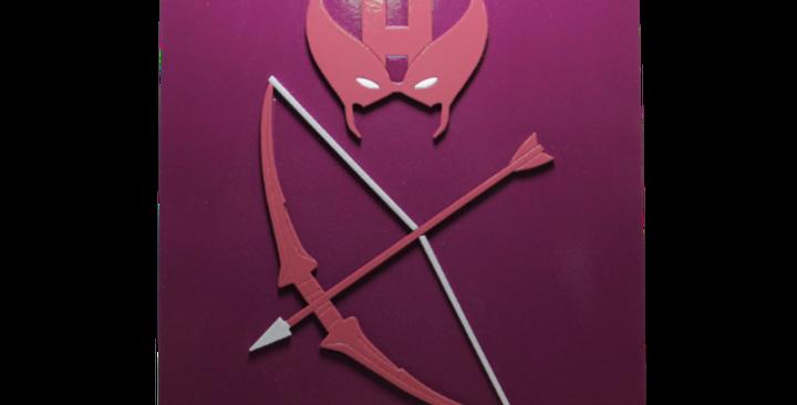 Quadro decorativo- Gavião Arqueiro- Hawkeye