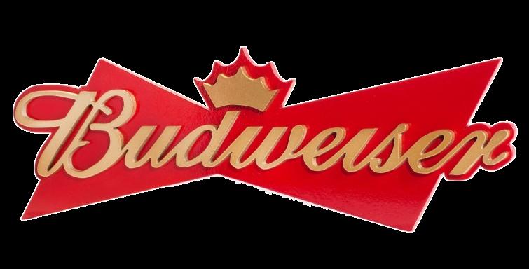 Quadro de Bebida Budweiser tam P - 44x14,5cm