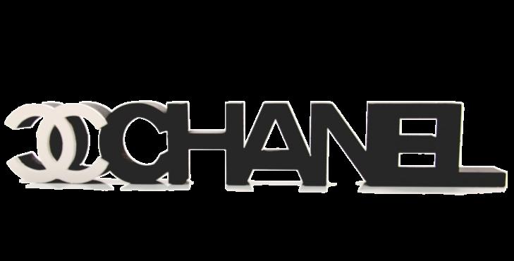 Palavra Decorativa Chanel - 5x27cm