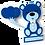 Thumbnail: Quadro Urso Menino - 30x30cm
