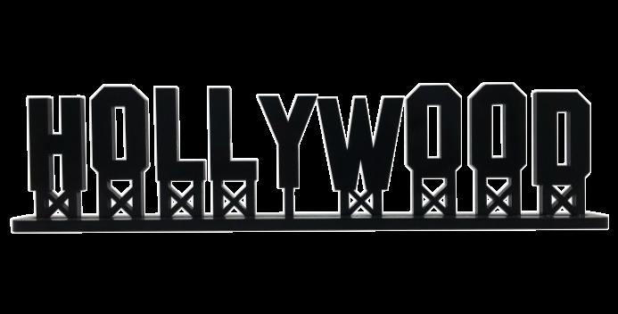 Palavra Hollywood - 9x30cm
