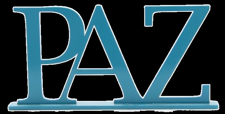 Palavra Decorativa Paz - 16x32cm