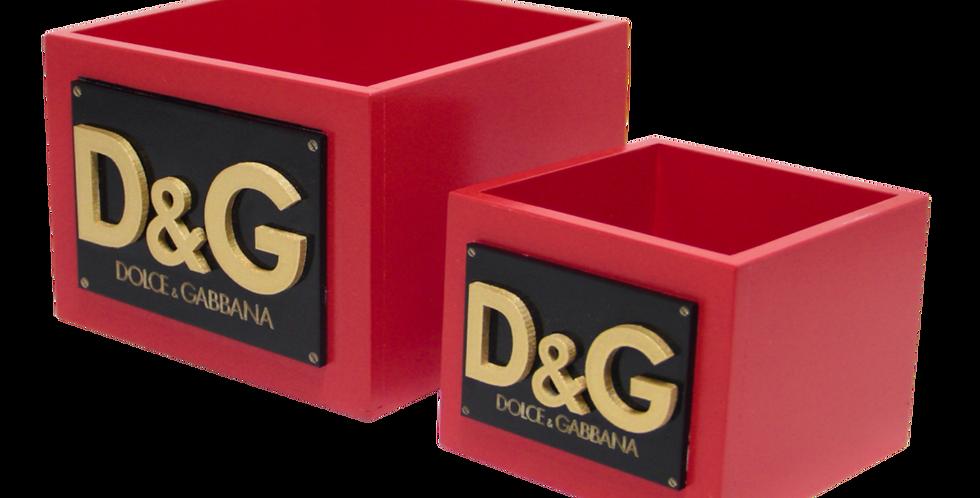 Kit Caixas de Utilidades Dulce Gabbana 6x5cm e 7x6cm