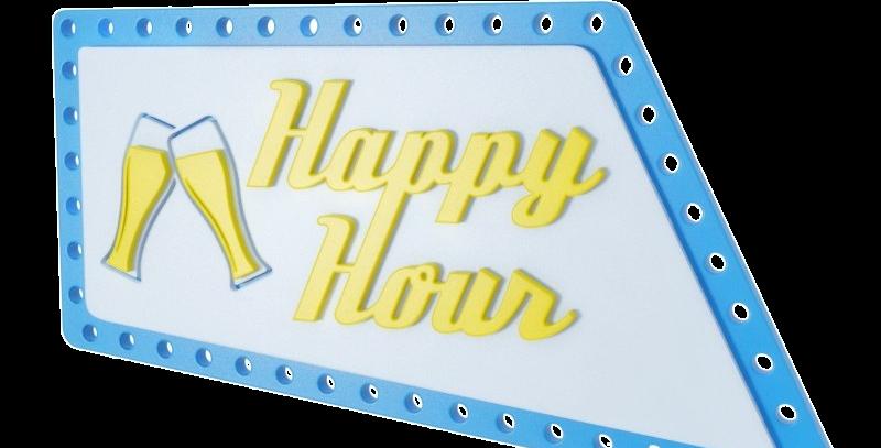 Quadro Happy Hour - 21,4x40cm