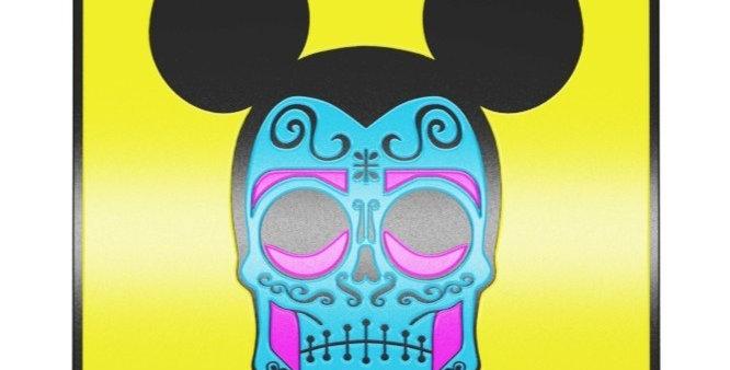 Quadro Caveira Mexicana Mickey - 40x40cm