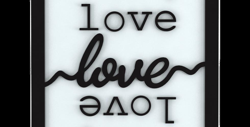 Quadro Love Love Love 30x25cm