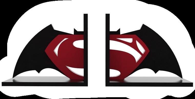 Aparador de Livro Super Herói - 15x35cm