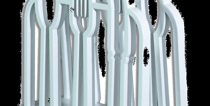 Porta GuardanapoTalheres - 12x11cm