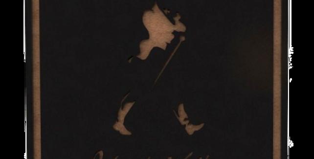 Porta Copo Quadrado Johnnie Walker - 10x10cm