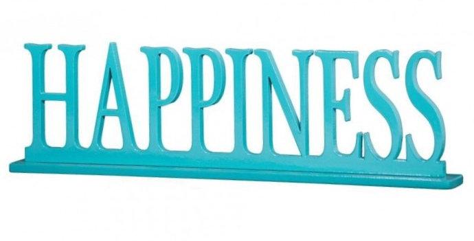 Palavra Decorativa Happiness - 9,5x34,5