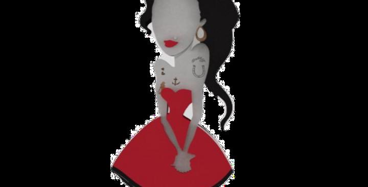 Boneca Laqueada - Mulher Poderosa - Amy Winehouse - 17x7.2cm