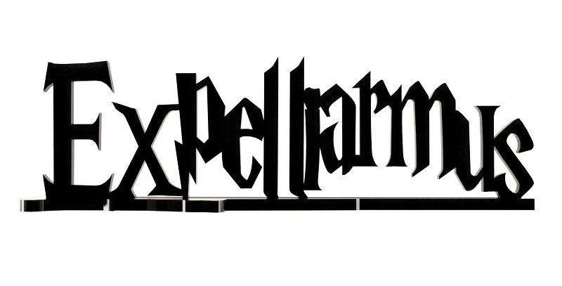 Palavra Expelliarmus - 12x40cm