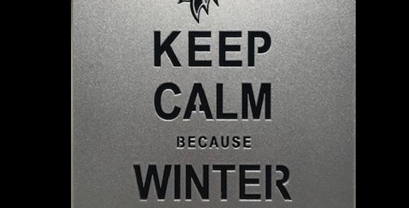 Quadro Winter is Goming 30x20cm