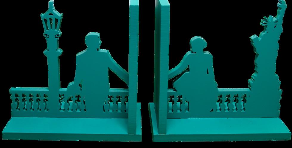 Aparador de livro casal em New York 15x16cm