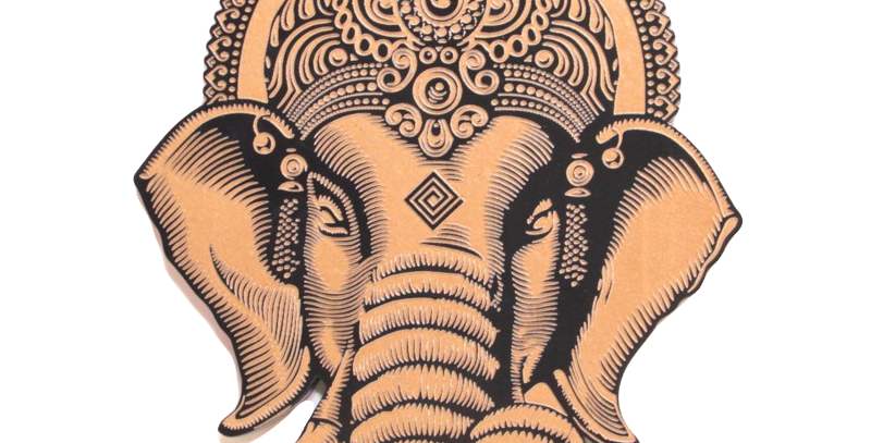 Quadro Indiano Ganesha - 24,1x17,47