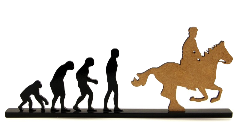 Objeto Evolução Cavaleiro - 15x26cm