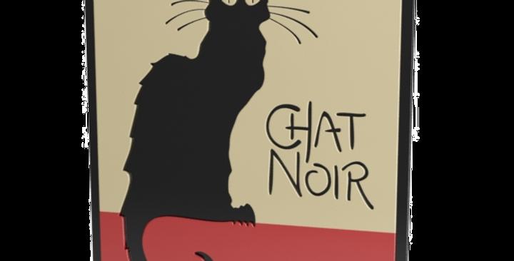 Quadro Chat Noir 40cm x 30 cm