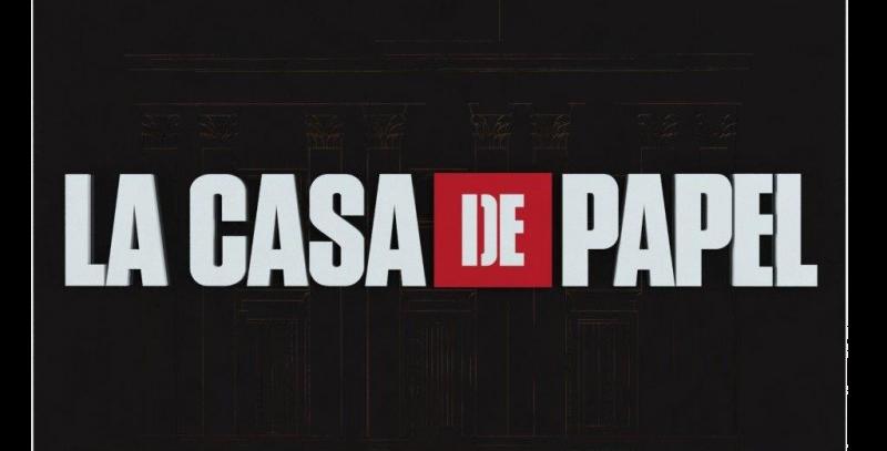 Quadro La Casa De Papel Logo -20x30cm