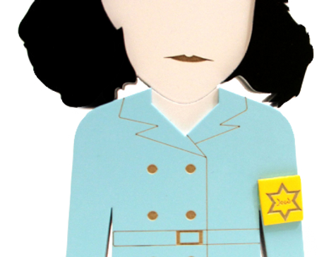 Boneca Anne Frank -19x10,5cm