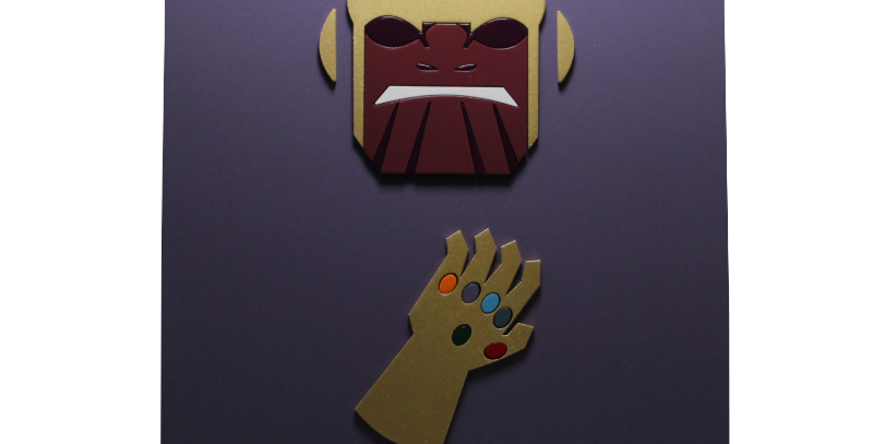 Quadro decorativo- Thanos