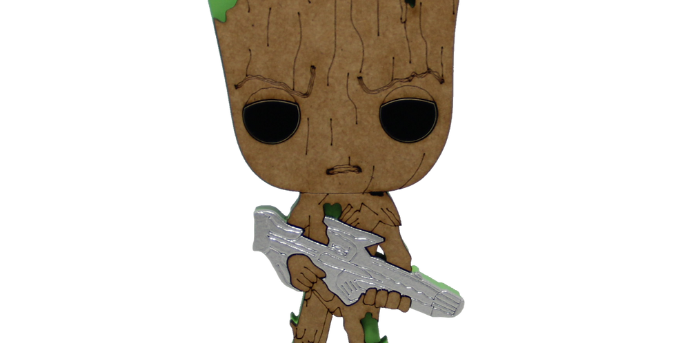 Boneco Laqueado - Geek- Guardiões da Galaxia - Groot - 19x15