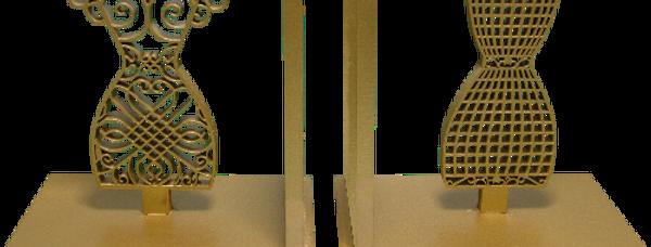 Aparador de livro Manequim 15x16cm