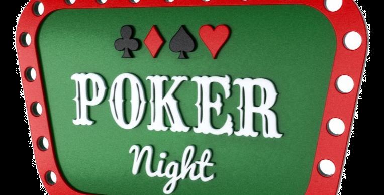 Quadro Poker Night - 26,2x40cm