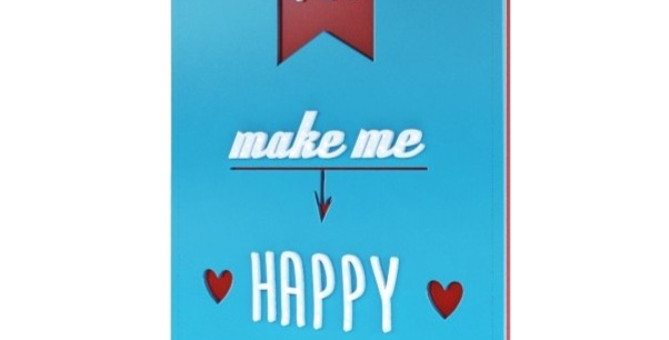 Quadro you make me happy - 40x27,1cm